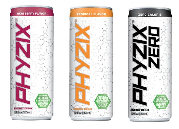 Phyzix Acai Berry, Tropical and Zero